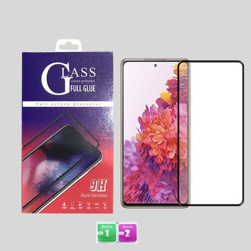 iPhone 12 11 Pro Max XS XR 전체 커버 강화 유리 3D 화면 보호기 삼성 A21 A11 A01 A51 검은 가장자리