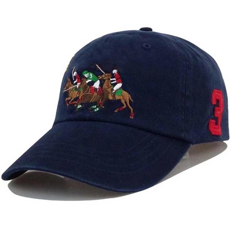 2021 Polo Caps Luxus Designer Dad Hat Baseballmütze Für Männer und Frauen Berühmte Marken Baumwolle Justierbare Schädelsport Golf Gebogene Sunhat