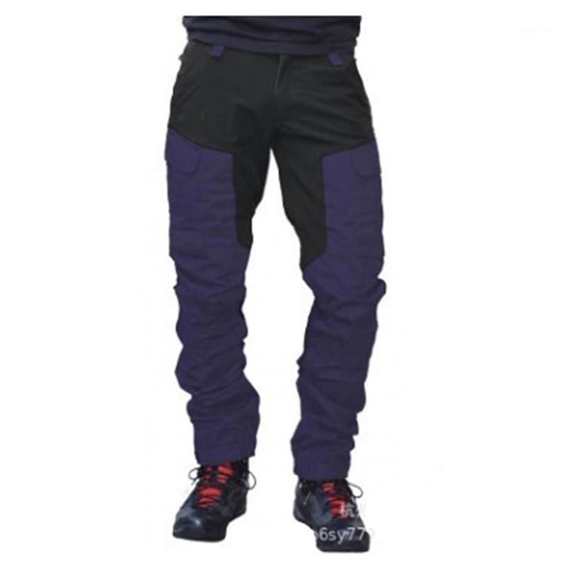 Цвет Matching Локомотив Casual Zipper Брюки Дизайнер Мужской тонкий Спорт на открытом воздухе штаны Человек Multi-карман штанах моды