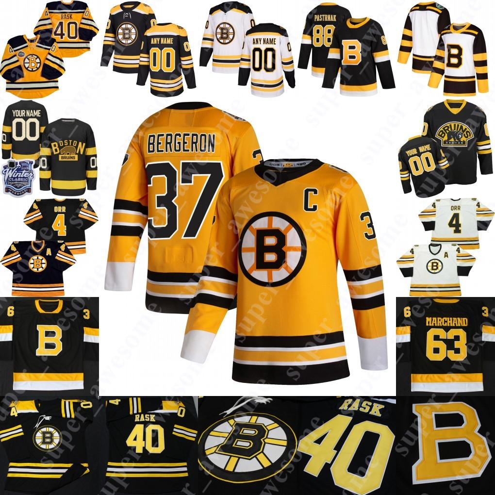 Boston Bruins Jersey David Pastrnak Brad Marchand Patrice Bergeron (C) David Krejci Tuukka Rask Nick Ritchie Charlie McAVoy Charlie Coyle