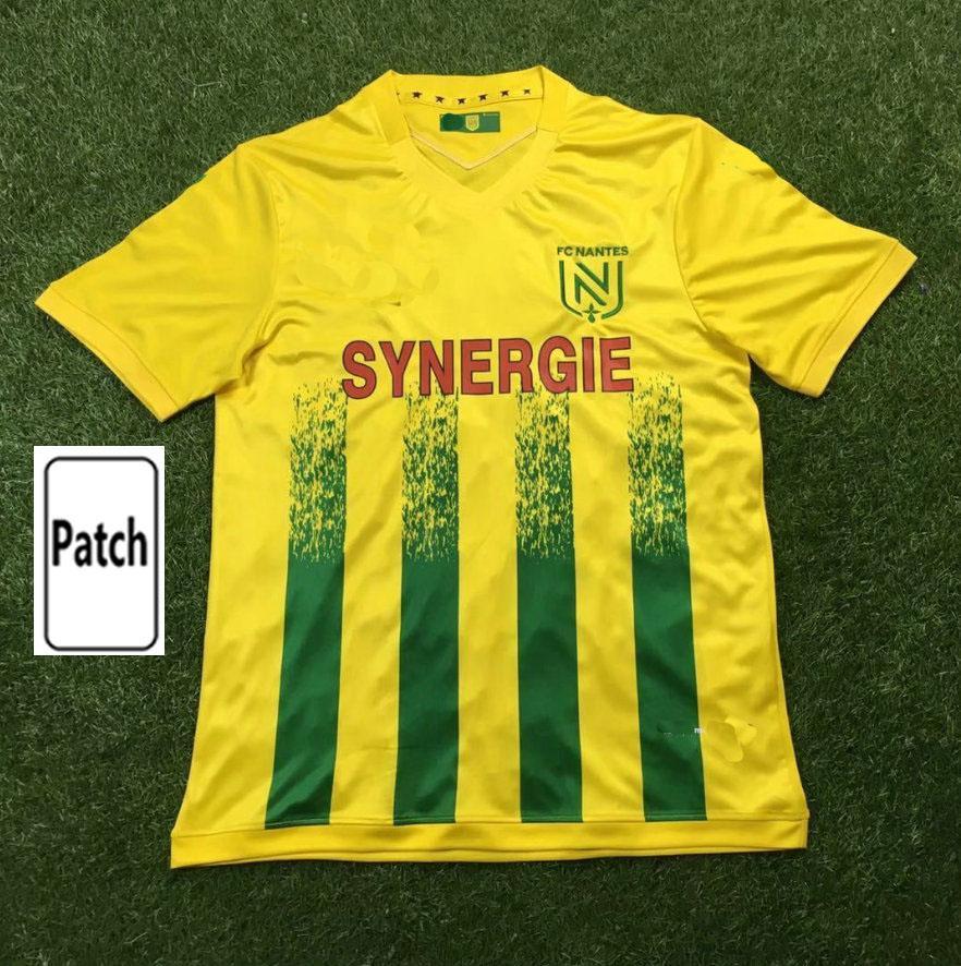 2021 FC Nantes Soccer Jerseys Coulibaly Coco Blas Toure Louza Simon Football Shirt 20 21 Home Hombres Niños Uniformes Maillot de Futol