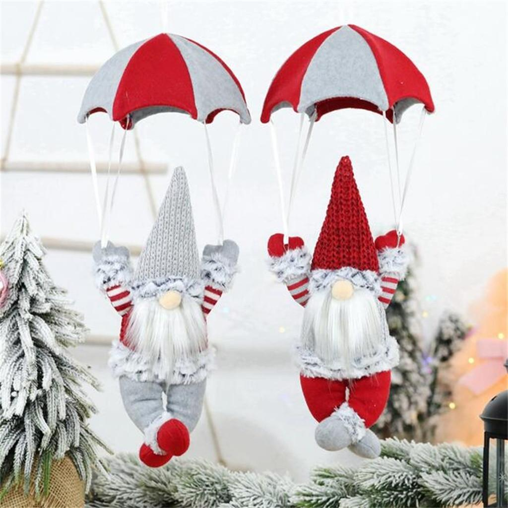 Christmas scene decorations christmas faceless skydiving old man parachute Indoor Outdoor Party Christmas Creative Decorative 05 Y201020