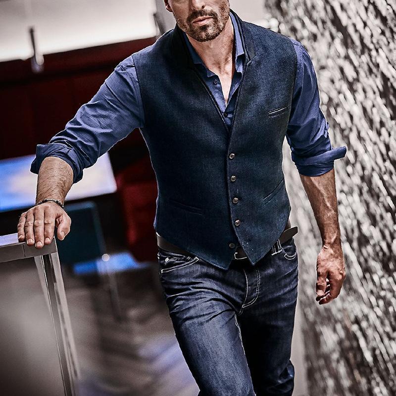 Урожай полосатый костюм жилет Мужчины 2020 Марка высокого качества Mens дизайн Жилет Gilet Homme вскользь Slim Fit Бизнес Джентльмен Жилеты