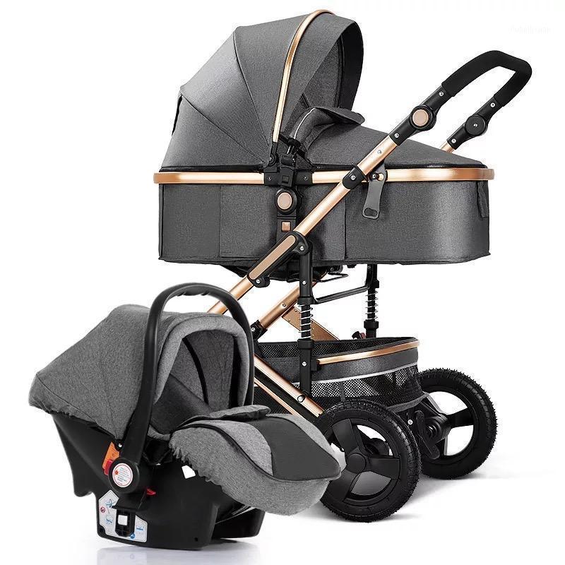 Kinderwagen 3 in 1, Kinderwagen Vier Räder Baby-Kinderwagen, Baby-Trolley, Kinderwagen, Luxus-Buggy, Neugeborenen Kinderwagen, hohe Landschaft1
