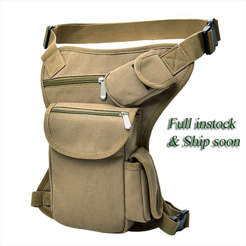Militares Tactical viagem de equitação da motocicleta Bag portátil cintura Messenger Bag Casual Canvas Gota Coxa Perna multi Pouch