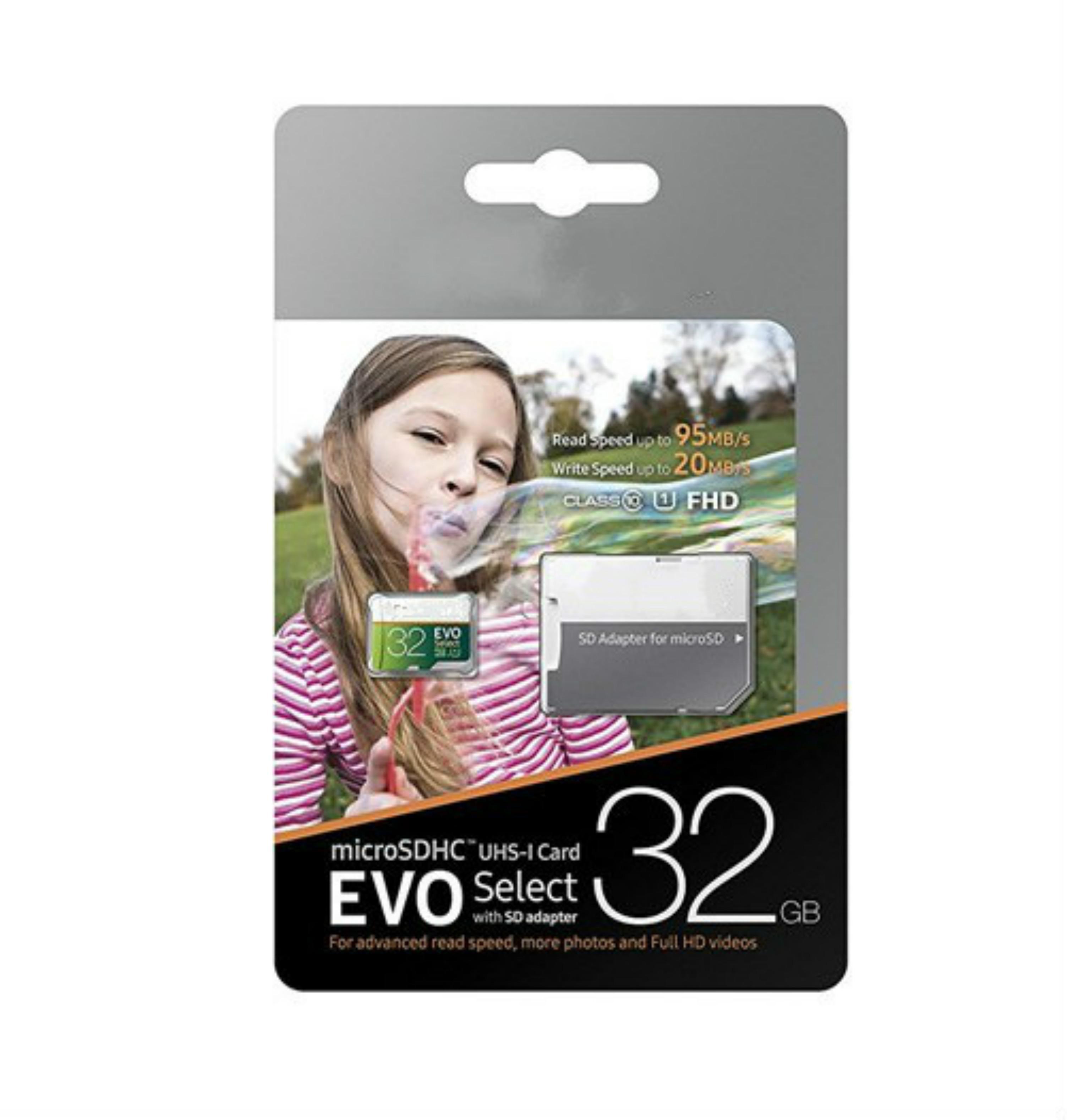 DHL Shipping 8GB / 16GB / 32GB / 64GB / 128GB / 256GB Samsung Evo Выберите Micro SD Card / Smartphone SDXC Кладка для хранения / TF Card / Карта памяти 100 МБ / с
