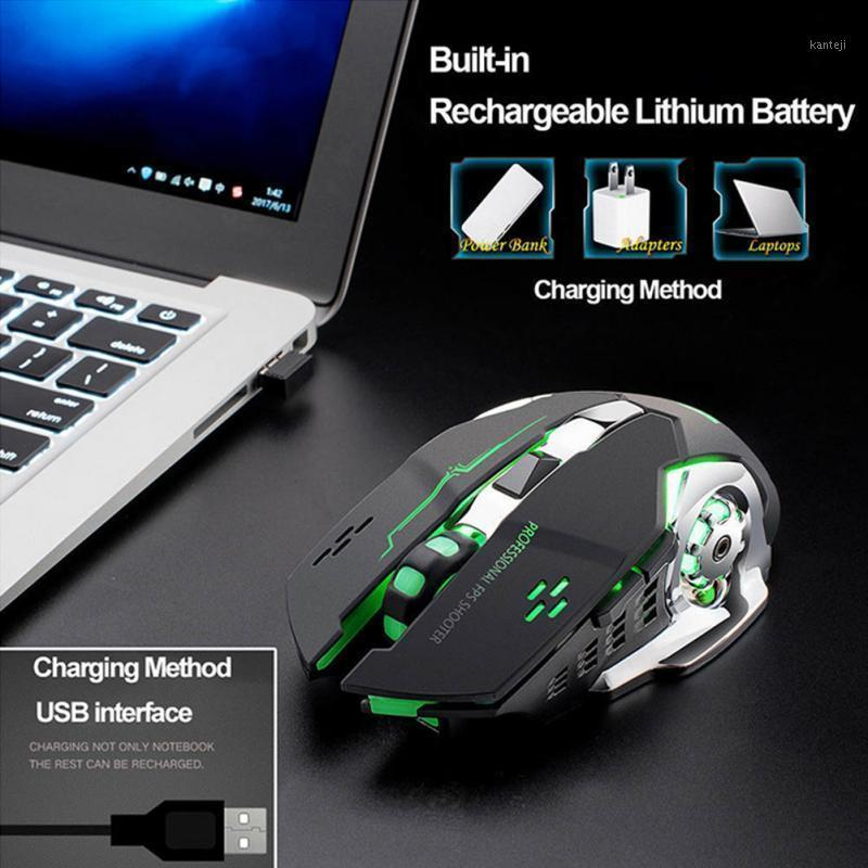 4 Colors LED Backlit Rechargeable Wireless Silent USB Optical Ergonomic Gaming Mouse Wireless Mouse Computer Peripherals1