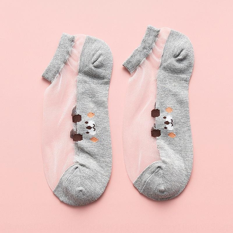 Yaz İpek ipek çorap ultra ince şeffaf cam çoraplar kısa socksstyle sığ ağız düşük tavanın çorap şık bir köpek dişi çorap ins