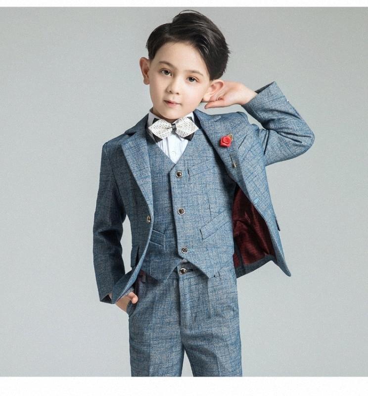 YuanLu Kids Suits Children's suit For Boy Blazer Suit Blazer Vest Pants Boys Wedding Boys Tuxedo mIUs#