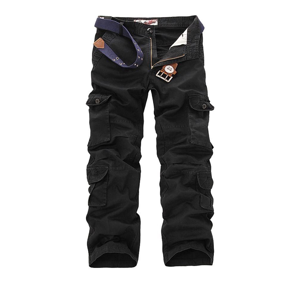 Pantalon cargo hommes tactique Pantalon militaire de l'Armée Vêtements Active Combat Homme Baggy Casual poche multi travail Salopette Pantalon 201111