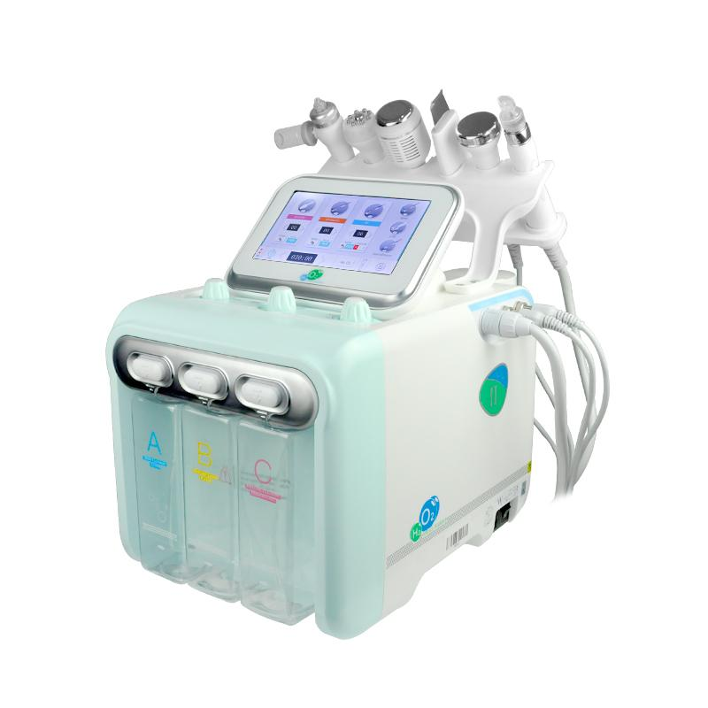 Portable 6 en 1 Hydro Peel Microdermabrasion Hydra Facial Hydrafacial Nettoyage En Profondeur RF Face Lift Peau Serrage Spa Beauté Machine usage domestique