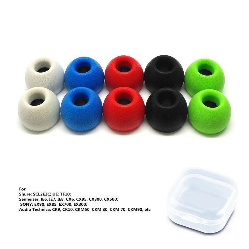 2 PCS / 1 pares anjirui ts400 (L M S) Eartips de espuma de memória dicas 4.9mm calibre orelha almofadas / tampa para dicas de fone de ouvido dicas sqcnrf