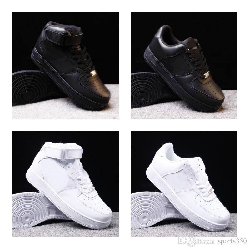 Новая 1 обувь для мужчин, женщин белого черных Мужских кроссовок Sports Открытого размера ботинки EUr 36-45 DH66-12118