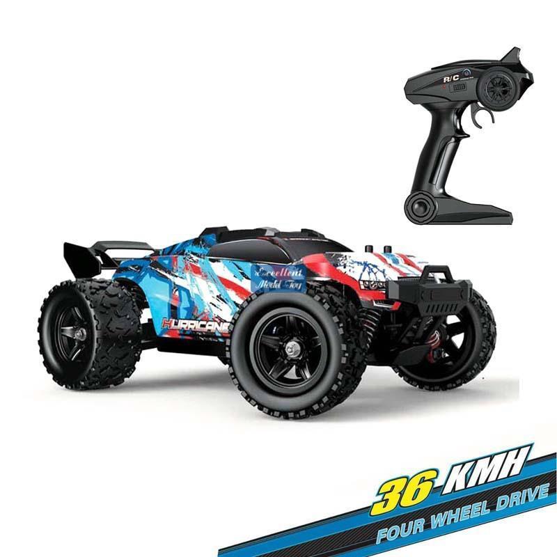 EMT Ort3 4WD Monster Race Off-Road-LKW, RC-Auto-Spielzeug, Hochgeschwindigkeits-36 km / h, Differentialmechanismus, kühle Drift, LED-Leuchten, Kind Weihnachtsjunge-Geschenk