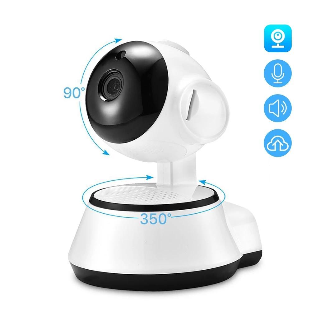 مراقبة الطفل 1080P البسيطة واي فاي كاميرا IP بالانقياديه اتجاهين الصوت كشف الحركة عن بعد وصول عموم / الميل كاميرا V380 سيارة كاميرا IP