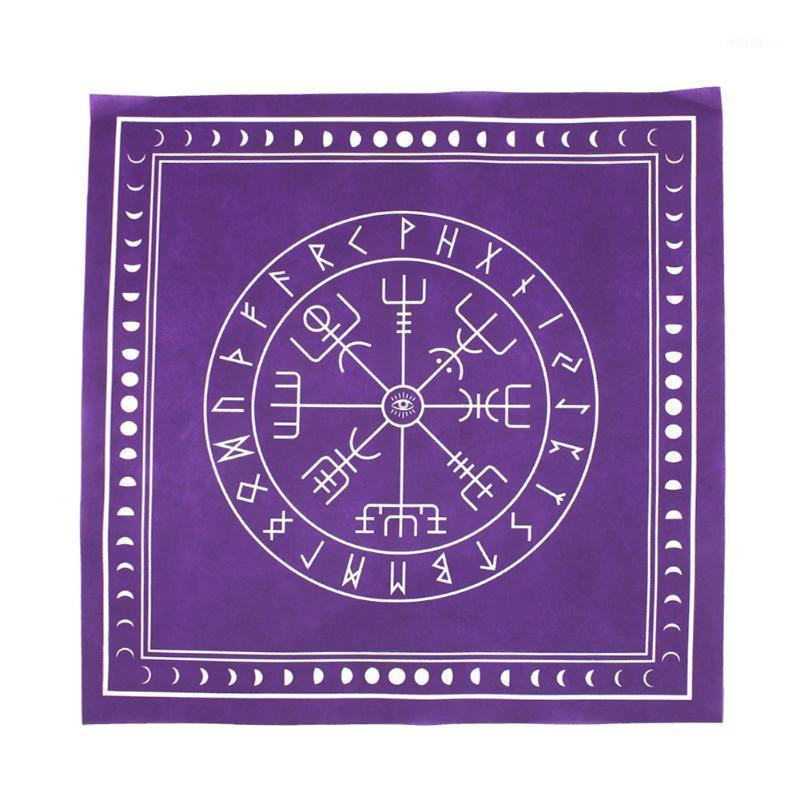 Cover Tapestry Board gioco Non tessuto mago da gioco Carte da gioco Divinazione Altare Patch Square Party Home Tarot Tovaglia runes1