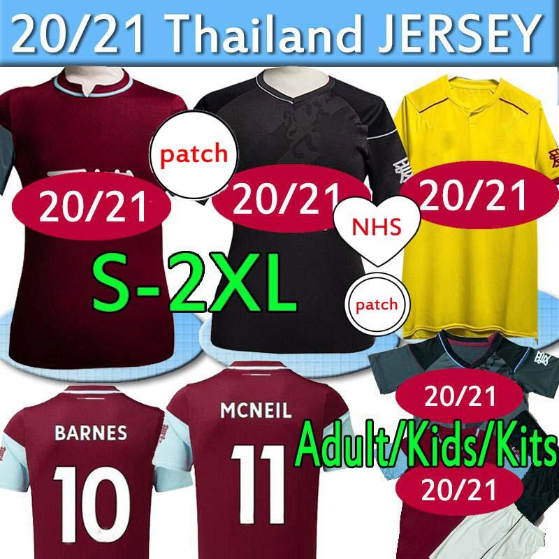 The Clarets Lancashire Burn soccer jerseys ley FC 20 21 WESTWOOD BARNES BROWNHILL DUNNE POPE football shirts Men kits kids Uniforms Thailand