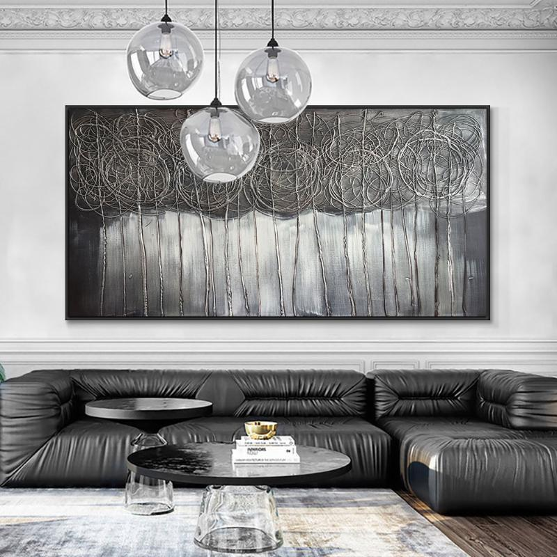 Büyük Boy Soyut El Yapımı Pansiyonlar Yağlıboyalar Tuval Üzerine 100% El Boyalı Modern Duvar Sanatı Oturma Odası Ev Dekorasyonu için