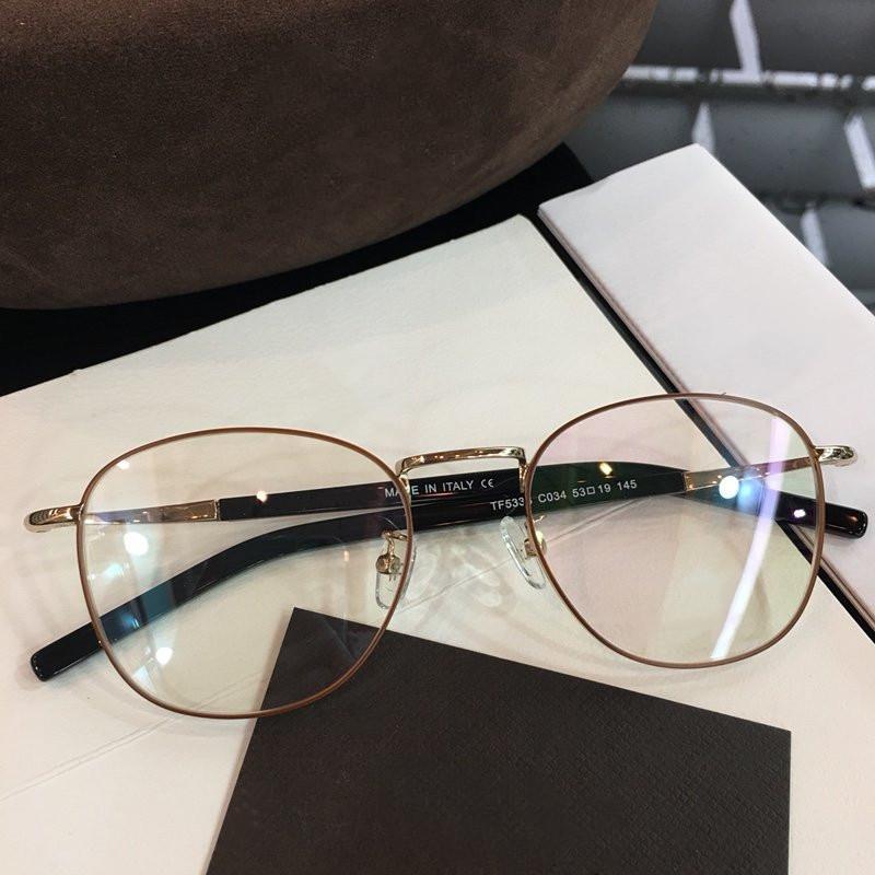 TF5333 جودة عالية إطار الموضة الجديدة النظارات إطار العين قصيرة النظر الرجعية إطار كبير يمكن قياس صفة طبية عدسة حجم 53-19-145