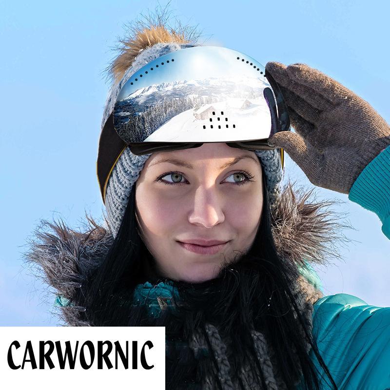 Gafas de esquí Capas Dobles UV400 Anti-niebla Hombre Mujer Gafas de esquí Snow Skiing Snowboard Motocross Gafas Mascarillas de esquí o Eyewear F1222