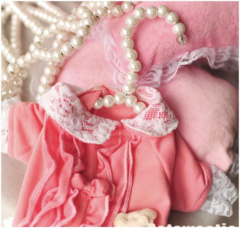 Bbytrk en plastique perlé pour manteau Organe Organisateur Robe Enfant Cintres de mariage 10pcs Pearl Enfants Enregistrer Space Space Vêtements Blanc WVumt