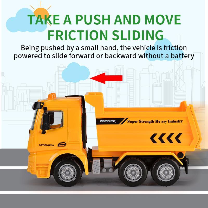 1:40 ABS пластика фрикционных машин модель игрушка для малыша шесть-привод забавной игрушки oparation городского транспорта грузовика