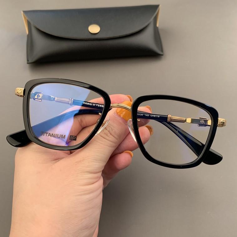 Lunettes de marque Fashion Cadre de lunettes de mode carrée rétro Cadre pour hommes Femmes Myopia Lunettes Good QualitTytitituanium Eyewear