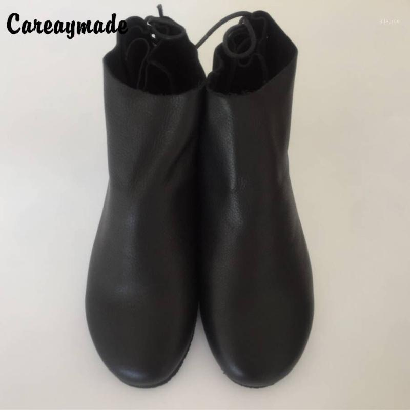Botas, The Winterand Otoño 2021 Capa superior hecha a mano de cuero genuino Zapatos retro Sen Girls Style Boots1