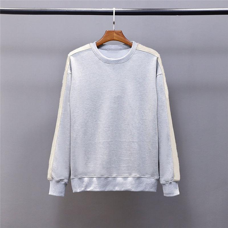 남자 스웨트 세련된 빈티지 고품질 스웨터 20ss 남성 여자 가을 겨울 접합 스웨터 코튼 아늑한 땀 셔츠 코트