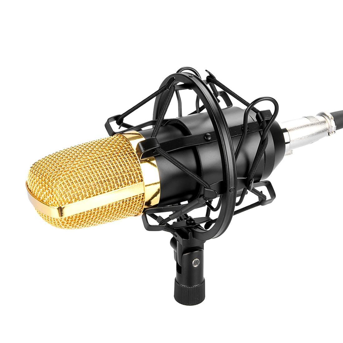 Fifine F-700 professionnel à condensateur son microphone d'enregistrement avec un choc de montage pour studio de radio diffusion en direct Boardcast 35mm écouteurs