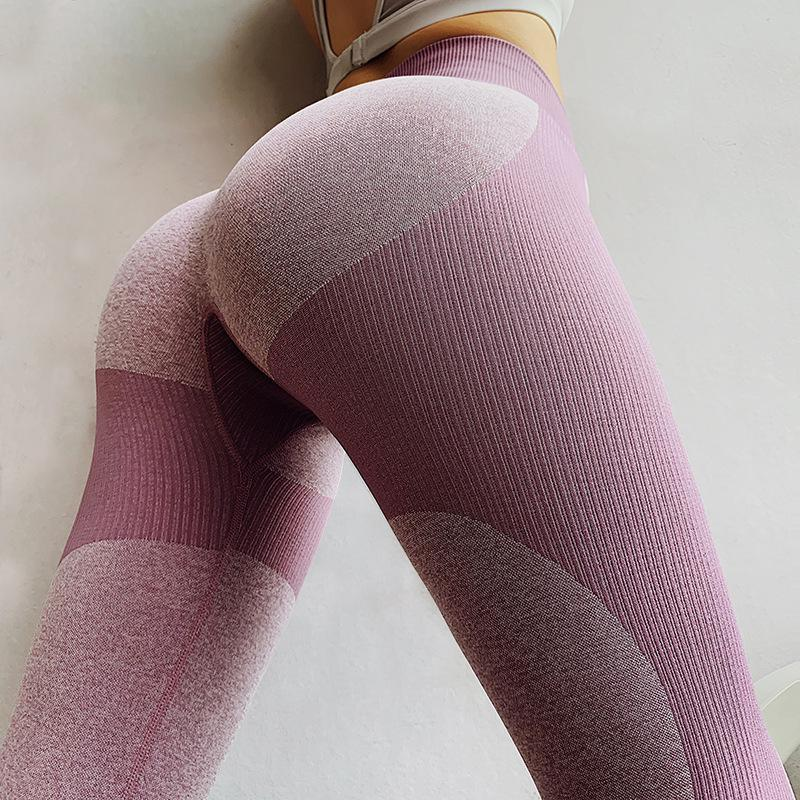 Alta cintura Push Up Leggins Entrenamiento Gimnasio Pantalones de yoga Mujeres Squat A prueba de cintura Alta Cintura Fitness Medias Deporte Leggings
