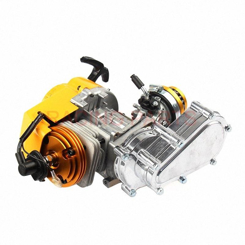 2-Takt Racing Motor 49cc Mini Motor Taschen Quad Dirt Bike Seilzugstarter j5ww #