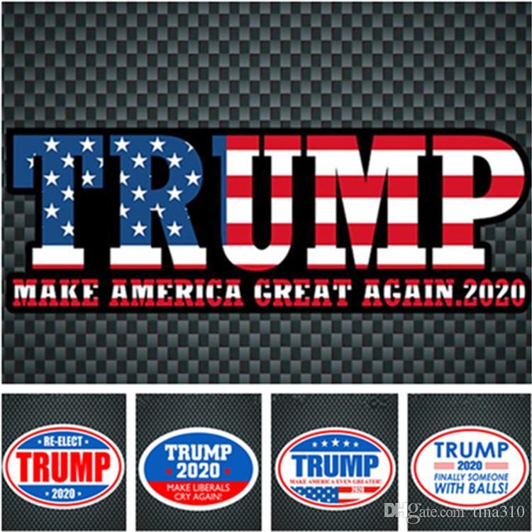 أحدث اللون متعددة على غرار جودة عالية عاكس ملصقات الحائط الجديدة الساخنة بيع TRUMP 2020 ملصقا السيارات T9I001