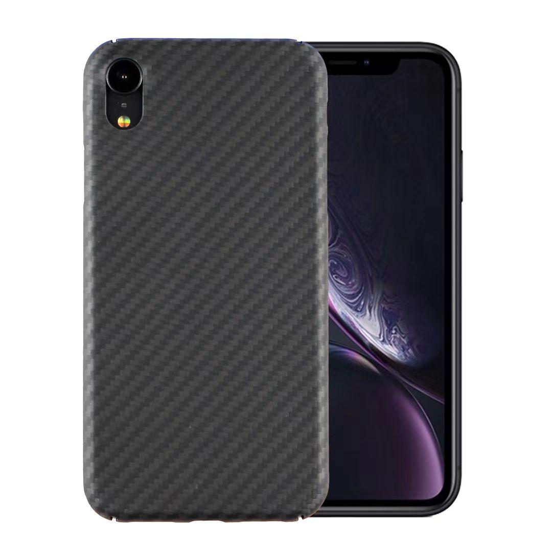 Cajas de teléfono celular de la textura de la fibra de carbono para la cubierta protectora de la cubierta de Apple iPhone 6 / 7/8/10 + XR XS 11 Pro Max