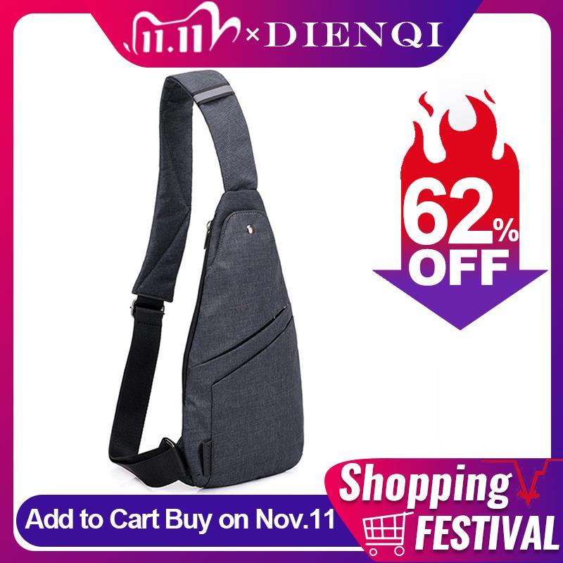 DIENQI Minimalisme épaule pour hommes Slim Mini Cross Body Bags Ceinture tactique de poche personnelle de l'homme Sac petit sac à main Man Q1106