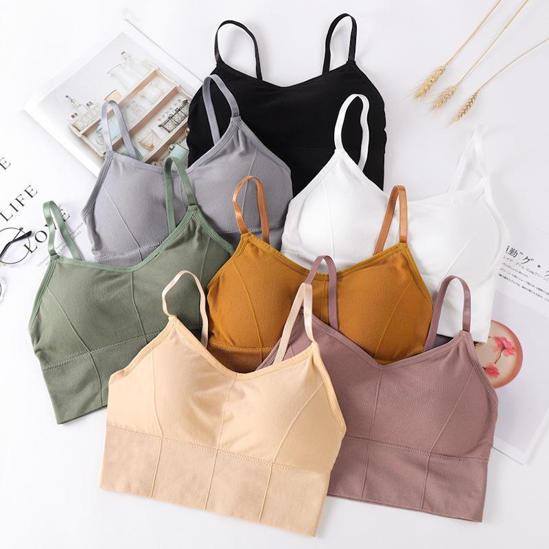 Seamless back wrapped bra women's sports vest without steel ring thick cotton cup bra girl's Bra