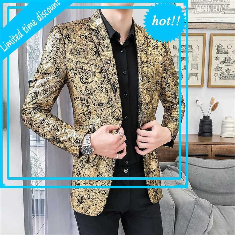 Курение формальное платье стройный костюм пальто джентльмены роскошный пейсли цветочный узор нездоровый куртка ночной клуб танец мужская повседневная пиджак