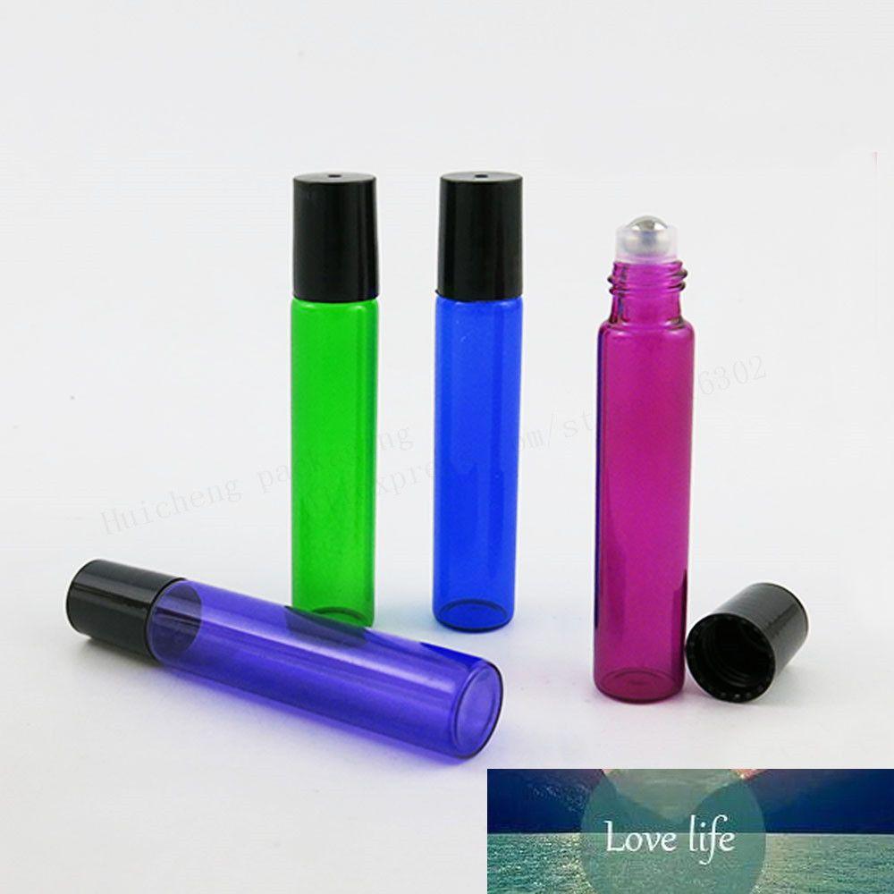 50 x 10ml Vazio rolo pequeno em frascos para óleos essenciais 10cc roll-on recipientes frasco de perfume desodorizantes recarregáveis de vidro