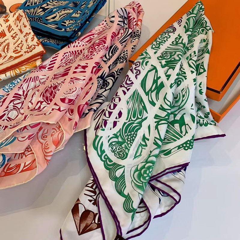 Luxus-Kaschmirschal-Frauen-Winter-warm-Tücher und Wraps-Design-Pferd-Druck-Bufanda-Schals