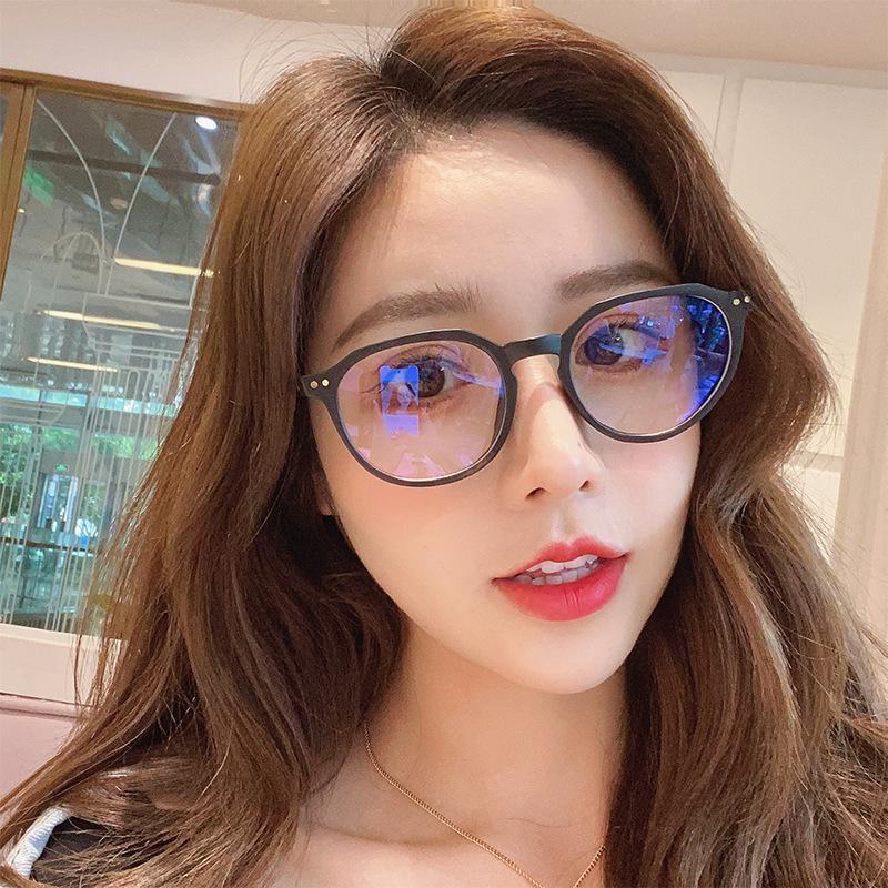 LONSY الأزياء المضادة الضوء الأزرق حجب الكمبيوتر نظارات للنساء الرجال واضح شفاف الإطار عدسة نظارات