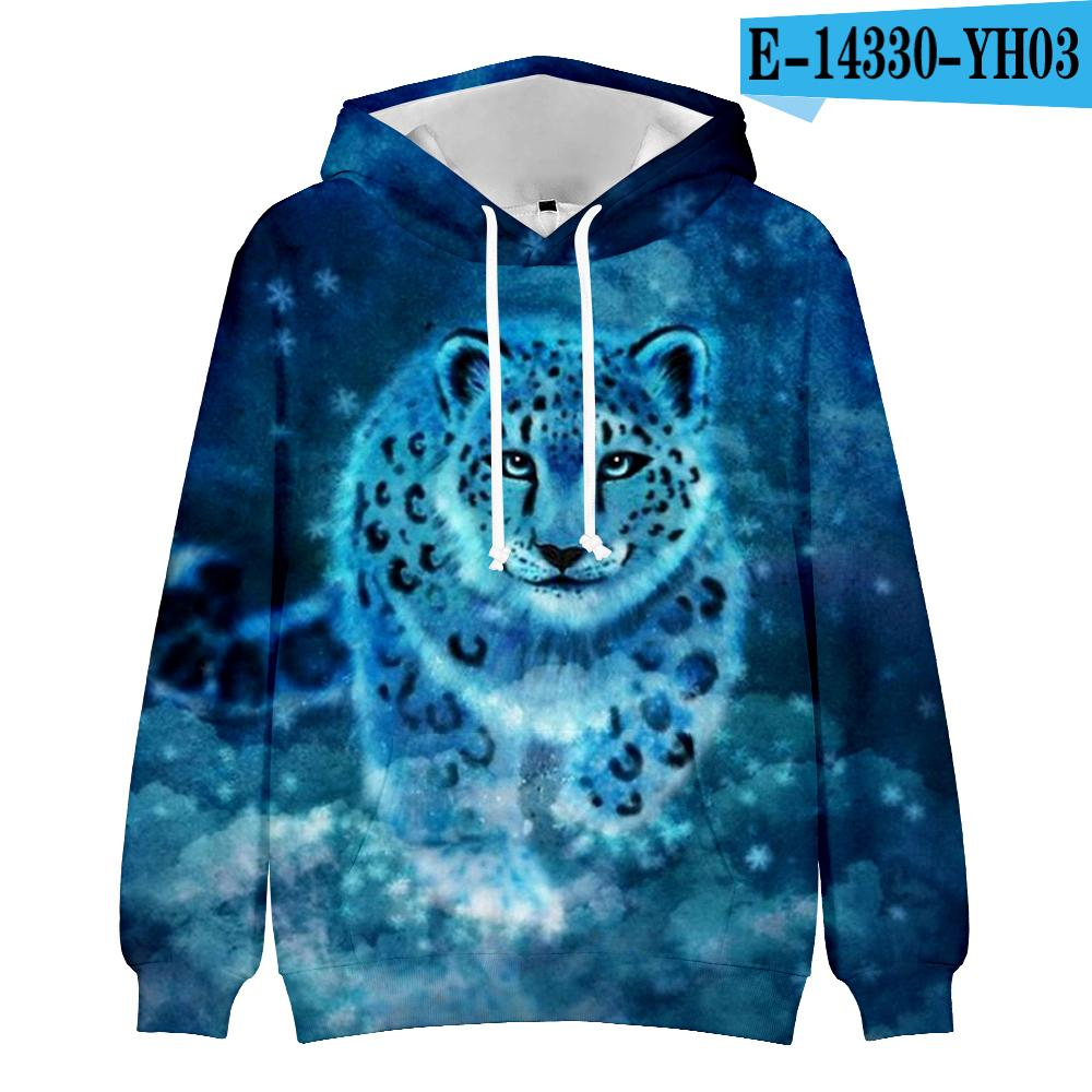 New Kid's Cool Leopard 3D Men/Women Hoodies Popular Animal High Quality Leopard 3D Print Hoody Pullovers Casual Kpop Clothes X1214