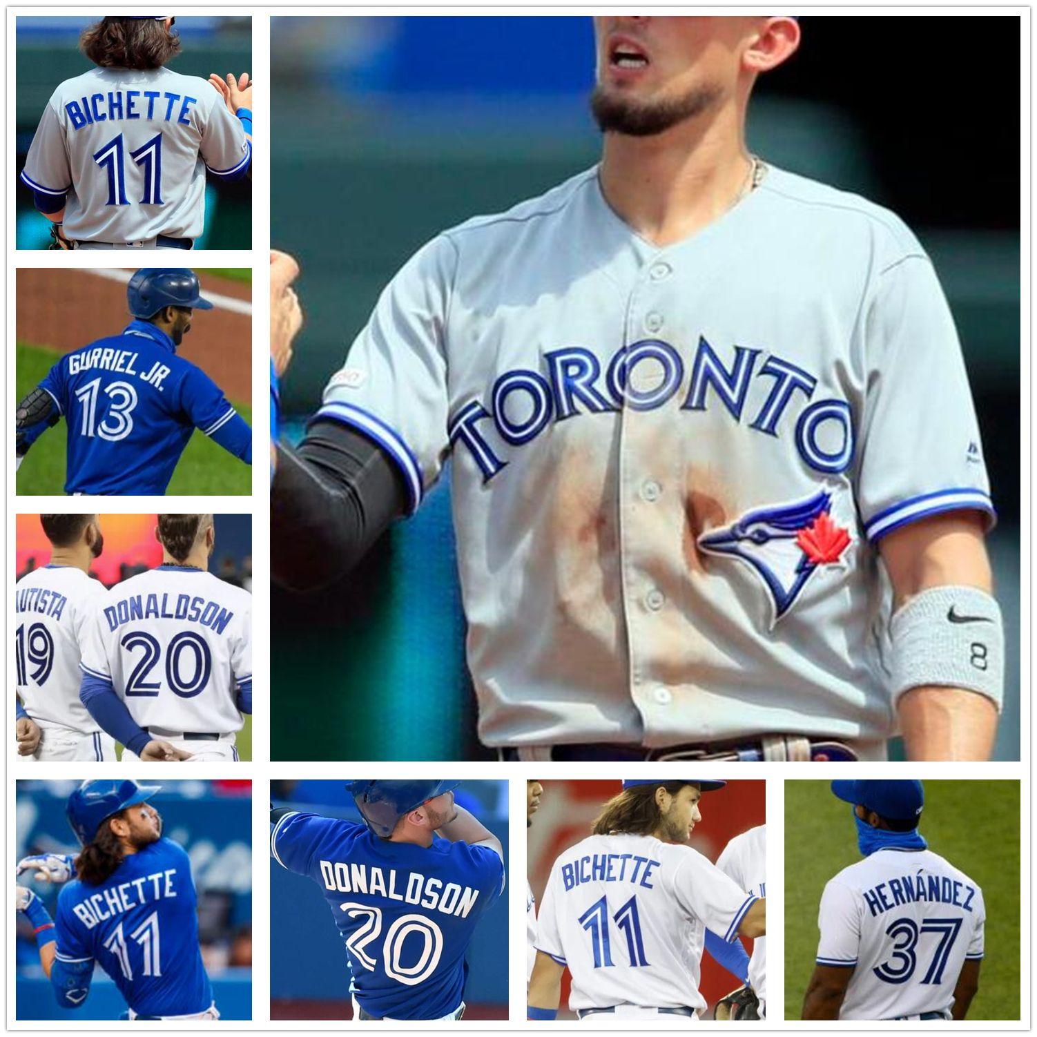 Toronto College Baseball trägt Blue Vladimir Guerrero Jr. Jays Cavan Biggio Hyun-Jin Ryu Yamaguchi Randal Grichuk Drury Hernandez Jansen