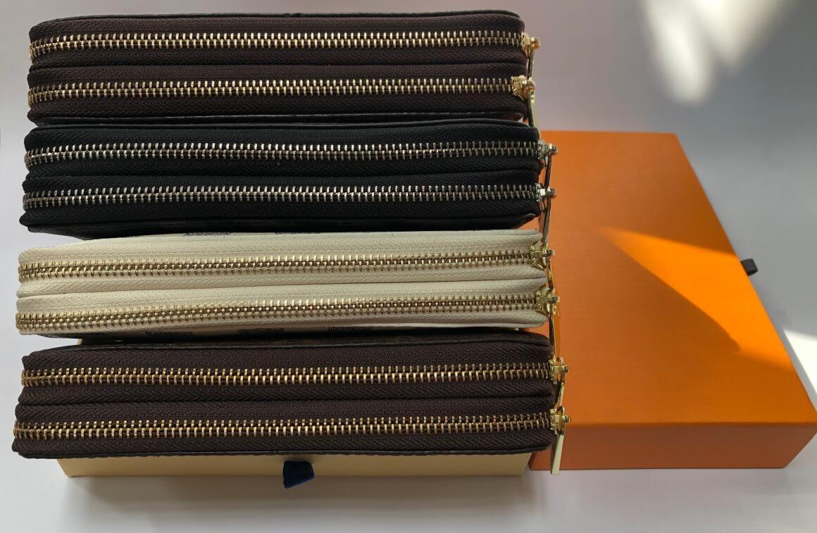 dupla zipper carteira a maneira mais elegante para transportar cerca de dinheiro, cartões e moedas homens titular do cartão bolsa de couro longas mulheres de negócios carteira 02