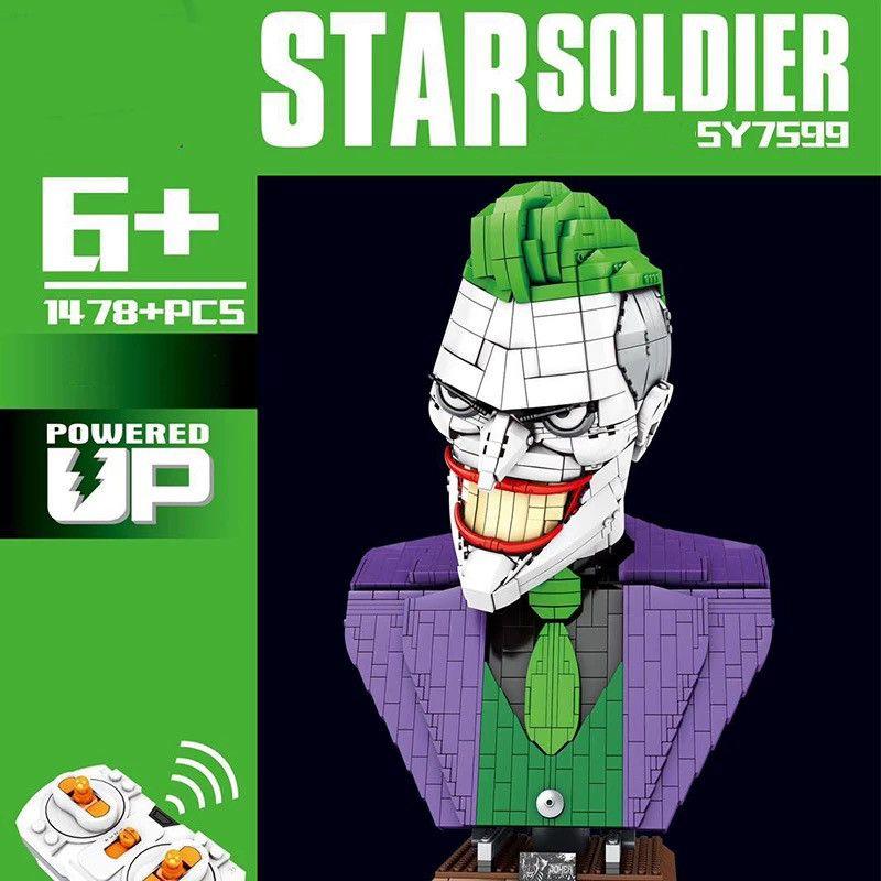 Dark Knight Batman Joker RC Superhero schlechter Clown Büste MOC Statue Action-Figuren Bausteine Bricks Dc Spielzeug 7599 für Kinder Geschenk