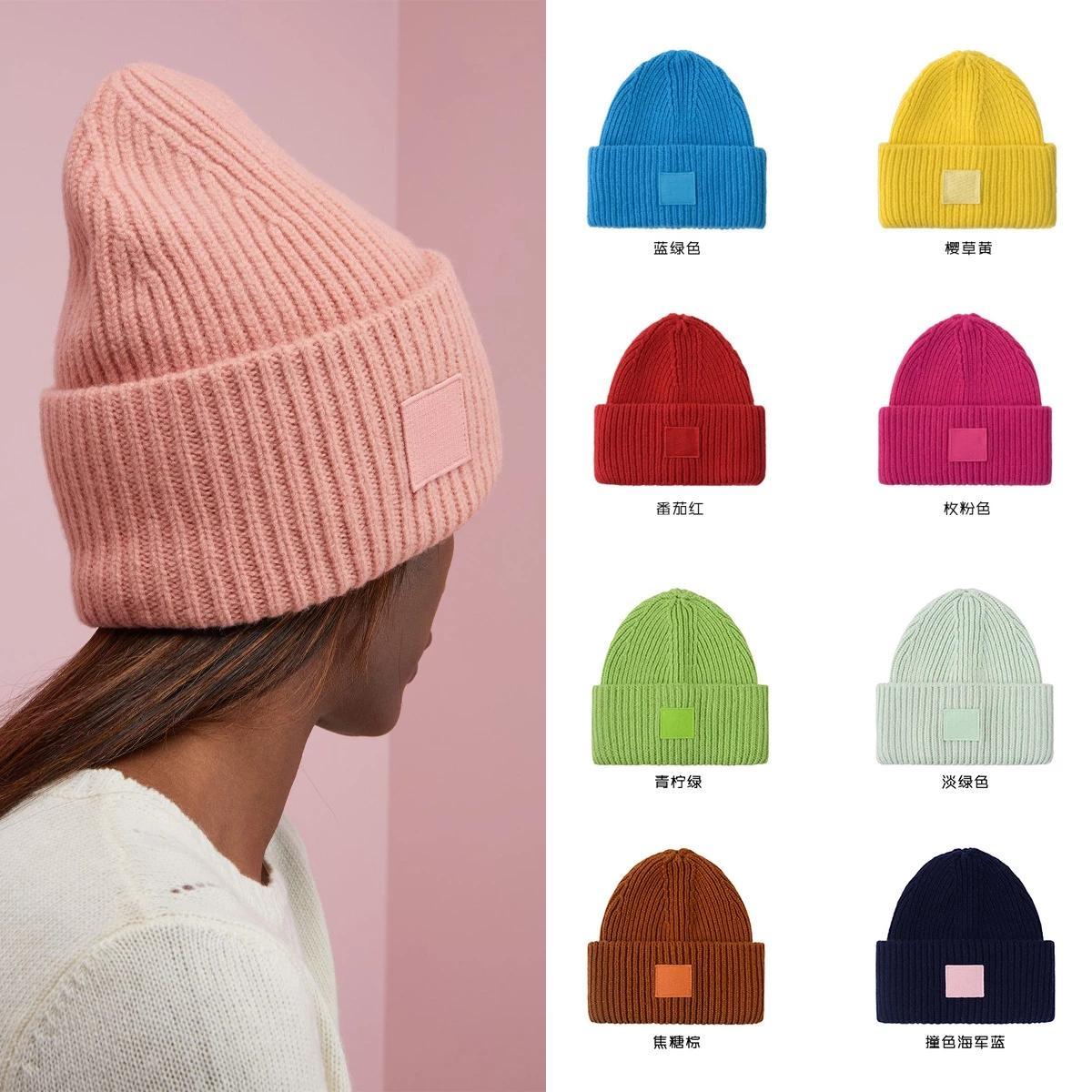 Verastor New Winter Hüte Massivfarbe Wolle Strick Beanie Frauen Casual Hut Warme Frau Weiche Verdicken Sicherungskappe Slouchy Motorhaube