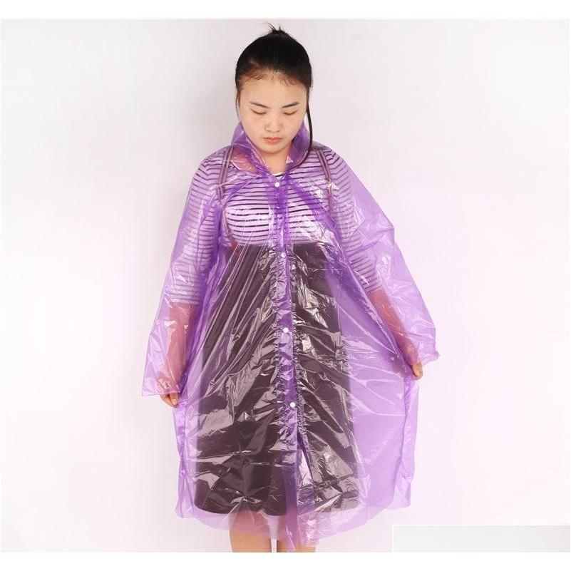 Cordon élastique jetable pour les adultes de Ponchos avec la pluie E et Raincoat Sleeve se termine, capot portable et plus épais QYLSKT PPSHOP01 CDDLI