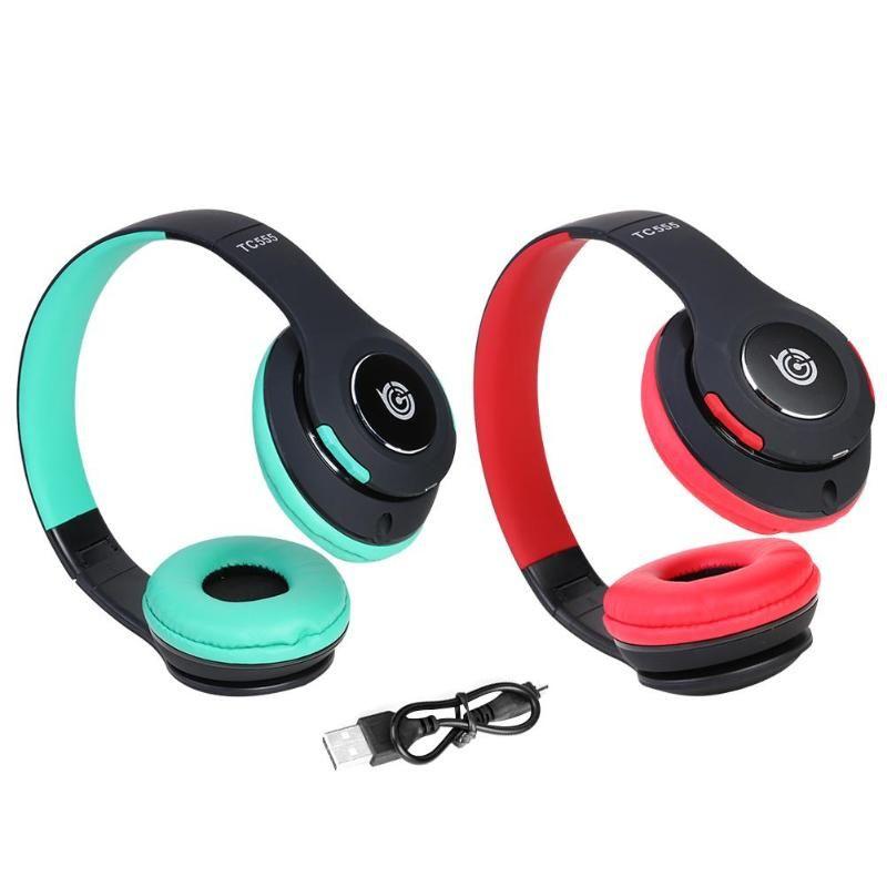 TC555 Folding drahtloser Kopfhörer Bluetooth 4.1 Headset für PC Telefon MP3 mit Mic Bluetooth v4.1 Übertragungsreichweite 10 Meter