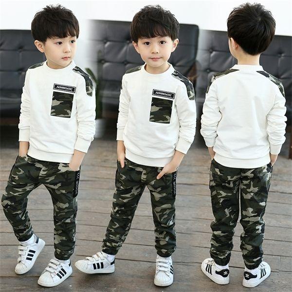 Vêtements enfants Automne Hiver Gentleman Toddler Garçons Vêtements Jeux Top + Pantalons Enfants Vêtements Costume Sport Pour Bébés garçons 2 6 7 8 ans X0923