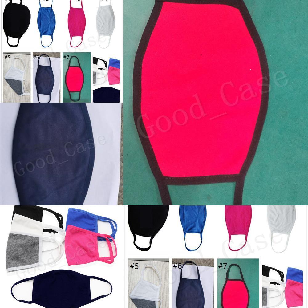 Designers anti-poussière Masque Unisexe Coton Couleur Solide Mode Visage réutilisable Visage de visage Couvre-vélo Protection Masques de mouton DHL F10MNX