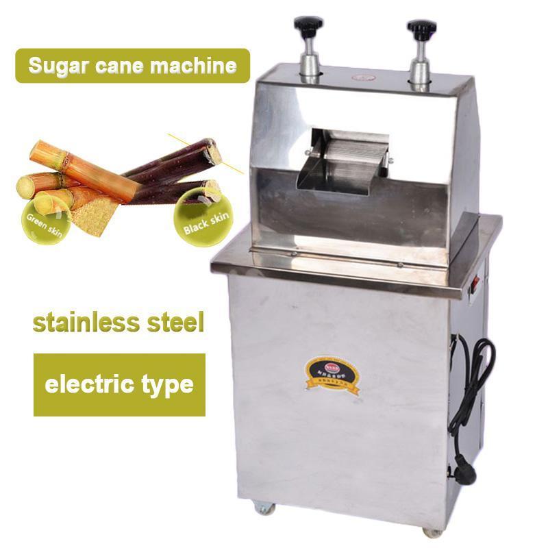 300KG / H Сахар тростниковый машина Электрический тростника Extractor Коммерческий сок сахарного тростника машины из нержавеющей стали соковыжималка 220v 370W